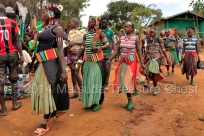 Gusty ladies on their way to the market