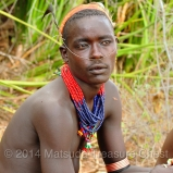 Most of the Hamar men wear abundant of their jewelry and accessories at the same time.