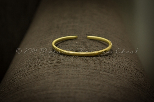 A metal bracelet that I bought from Muhammad, an Afar boy from Dalol, Danakil Depression