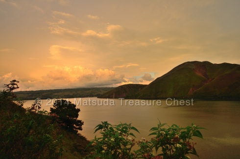 Sunset sky around Lake Toba