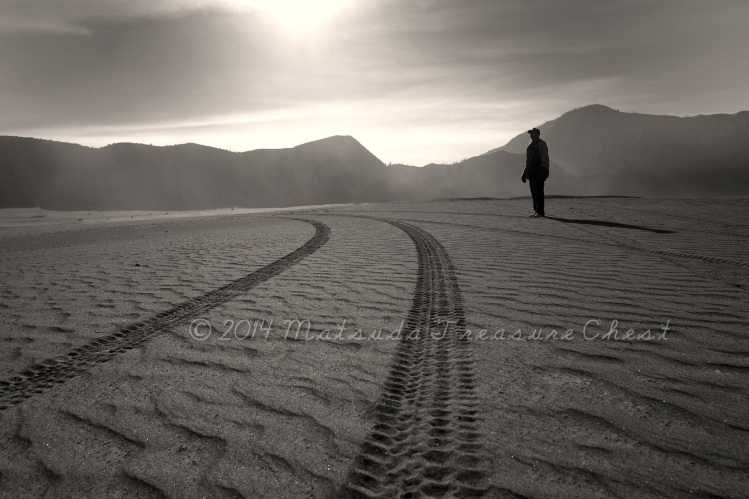 The road at Pasir Berbisik, Bromo valley