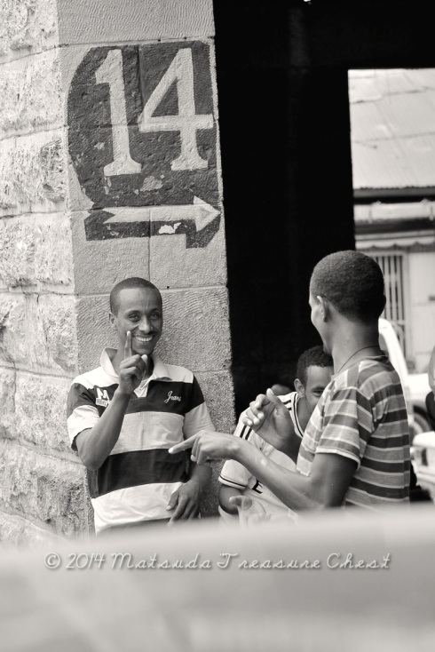 Being playful at the street of Addis Ababa, Ethiopia