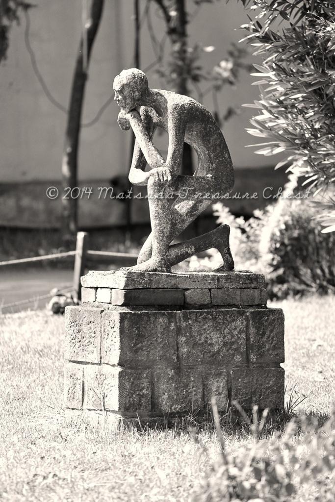 A thinker at Addis Ababa, Ethiopia