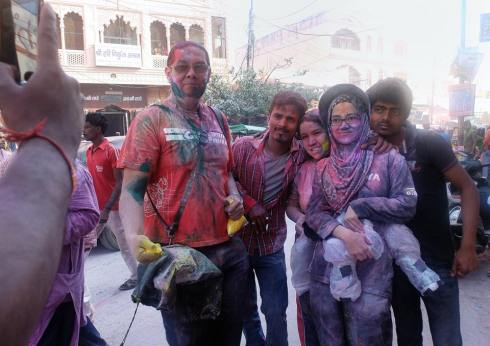 Sharing a photo of us ... looking like a rag after our holi adventure ;-)