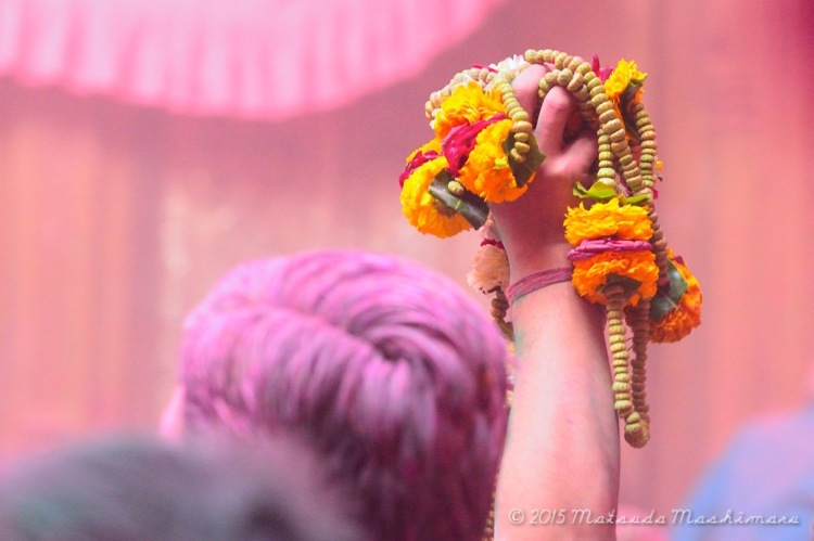 Chasing colors during Holi festival celebration at