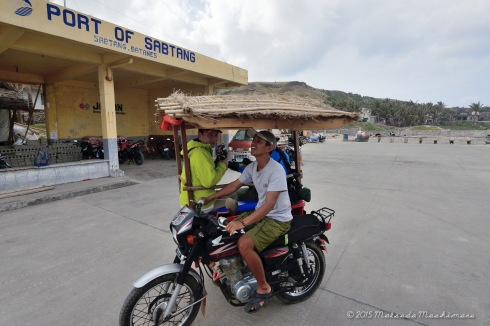 At 2pm: We arrived at the Sabtang port