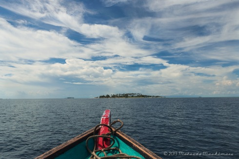 Heading straight-on to Maiga Island