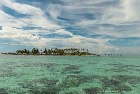 Maiga Island under the sun