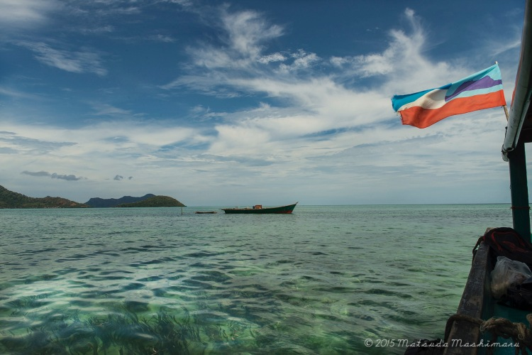 View from one of the jetty here in Maiga Island
