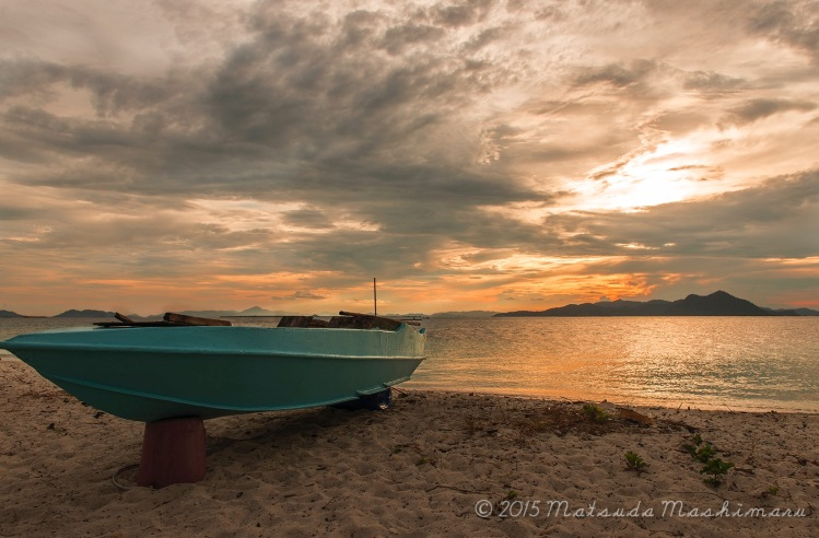 Sunset here at Maiga Island. The downside of having cloud overloads is ...