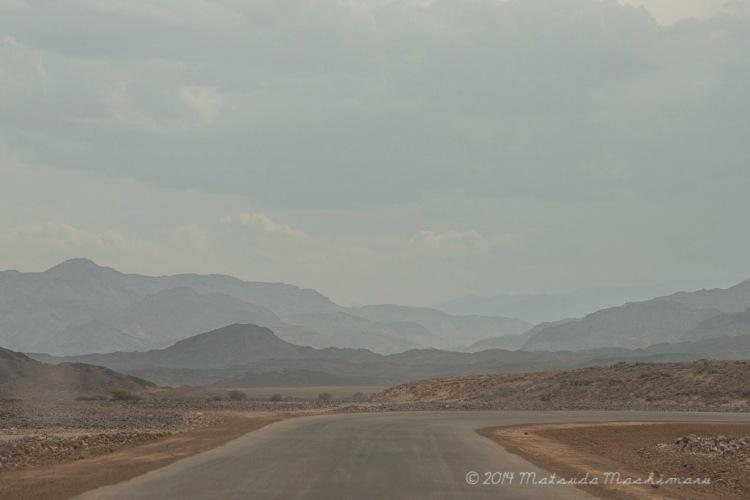 We were heading towards the extremely salty Lake Alfera.