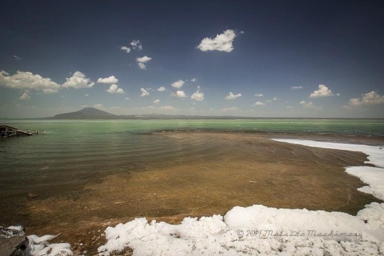 Lake Alfera, 120m below sea level. The temperature at this time was at 49 degree