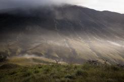 smoky dreamy landscape