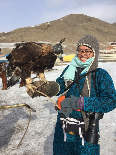 At the 10th Eagle Hunter festival in Ulan Baator