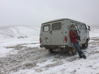 Hustai National Park, Tov Province during winter